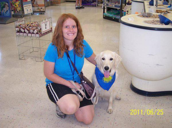 Michelle and Lucy  -  CANINE GOOD CITIZEN AWARD